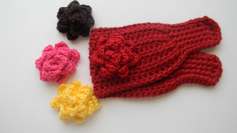 Crochet Ear Warmer Pattern Bulky Yarn : Crochet pattern: Ear Warmer Ear Wrap winter headband winter