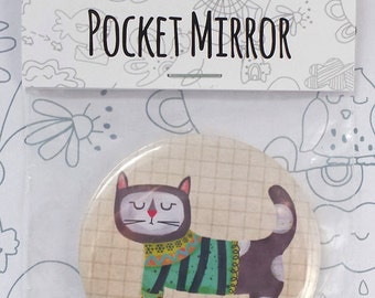 Bella Cat Pocket Mirror