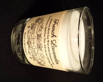 All Natural Soy Candle 10 oz glass available in 5 aromatherapy scents to choose from