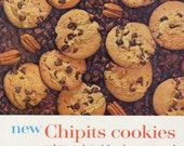 Nabisco Chipits Chocolate Chip Pecan Cookies Ad 1962 Vintage Advertising Retro Kitchen Wall Art Print