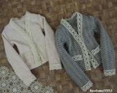 Kawkana - Girlish Sweather only, Grey or Pink for MSD, dollfie, MNF, JID, Leeke Art, other 1/4 bjd