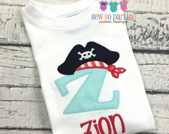 Baby Boy Pirate Outfit - Pirate shirt - baby boy clothes - Baby boy Pirate outfit - Boy Pirate shirt - baby boy personalized clothes