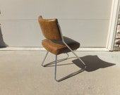 Vintage Z Chrome Chair,Side Chair,Vinyl Chair,Mid Century Modern,Office Chair,Desk Chair,Retro,Dinette Chair,Vanity,Howell,Brody Style,DCM