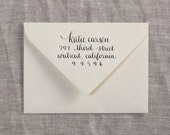 Custom Calligraphy Address Stamp - Casual Style