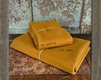 Wool: Half Yard 100% Wool - MUSTARD - Marcus Fabrics