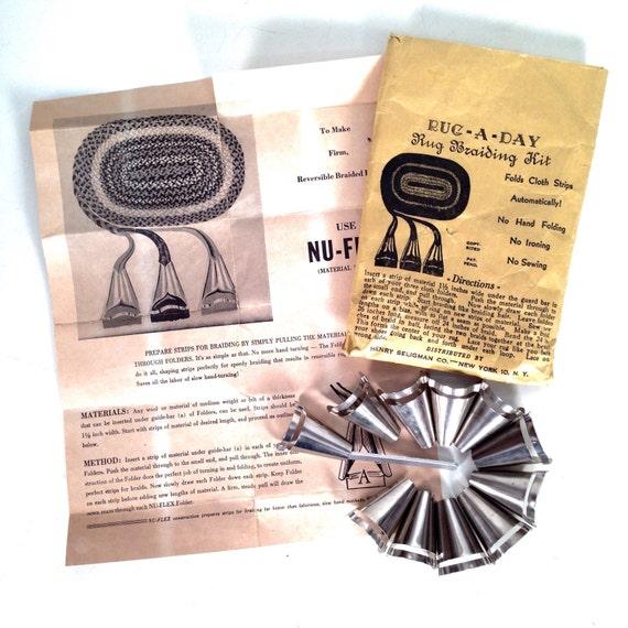Vintage Rug Braiding Kit Rug-A-Day Rug By Whitecottagesupplies