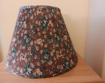 Print Lamp Shades - Pleated Shades - Aqua and Brown Shades - Large Shades