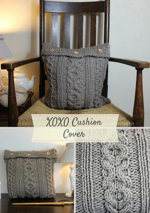 Xoxo Cushion Cover Knitting Pattern Home Decor Pdf