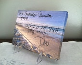 HANDWRITING on CANVAS -  (Sweetheart Daughter), Actual Handwriting, wall canvas, with additional photoshop fee (5)