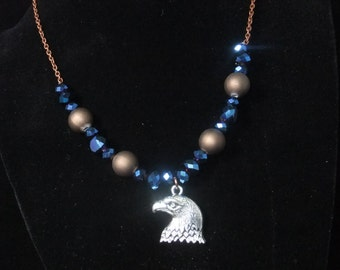 Ravenclaw Blue & Bronze Necklace (R5)