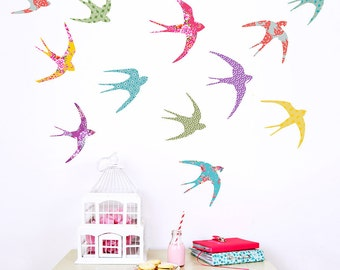 Flying Birds Fabric Wall Decals