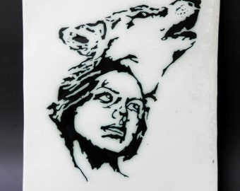 Spirit Wolf - Ceramic Wall Art