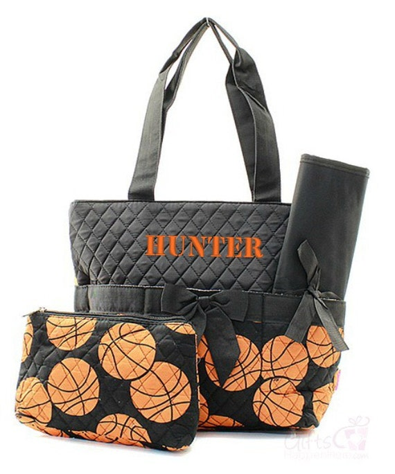 personalized diaper bag quilted monogrammed by giftshappenhere. Black Bedroom Furniture Sets. Home Design Ideas