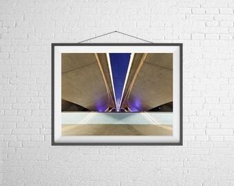 Fine Art Photography Print - Architecture - Bridge in Singapore