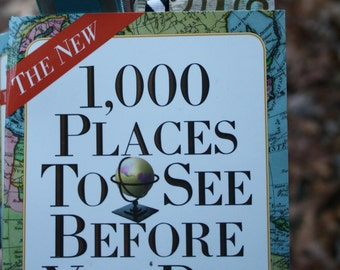 Custom Altered 1,000 Places to See Before You Die Journal