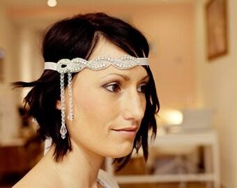headband muguet accessoire de coiffure de mariage strass. Black Bedroom Furniture Sets. Home Design Ideas