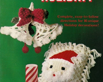 Vintage Macrame Holiday! Craft Book with patterns and instructions