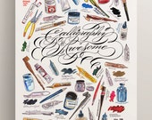 Calligraphy Is Awesome poster art artists tools fine print artwork