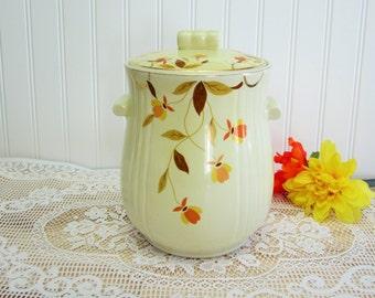 RARE Elegant 1930's Vintage Hall's Superior Autumn Leaf Pattern Left Decal Rayed Cookie Jar W/LID, Serving Set