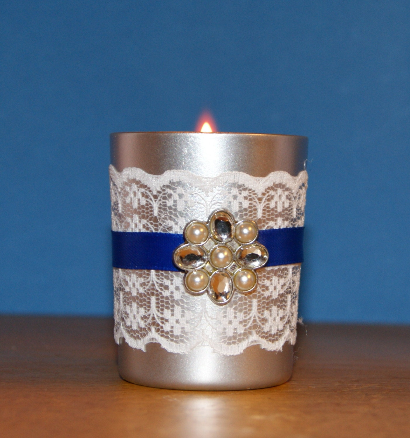 Winter Wedding / Wedding Votive Candle by CarolesWeddingWhimsy