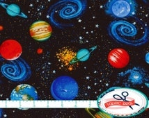 Popular items for sky fabric on etsy for Fabric planets solar system
