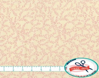 SHABBY CHIC Fabric By The Yard Fat Quarter CREAM Pink Small Print