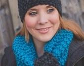 Seed Stitch Headband - Charcoal