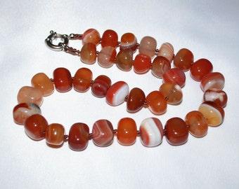 Sardonyx beads.