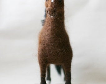 Needle felted Horse sculpture - equine art for horse lovers - Made To Order
