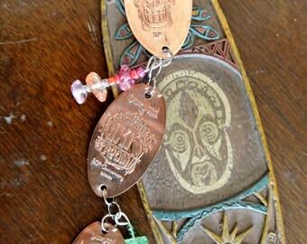 LIMITED EDITION*Tiki Room 50th Anniversary Pressed Penny Bracelet- Disneyland