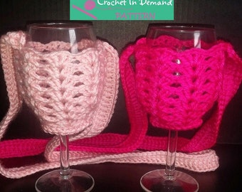 Free Pattern Crochet Wine Glass Holder : Wine glass necklace Etsy