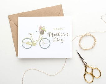 Printable Mother's Day Card - Bicycle - Cute Card for Mom
