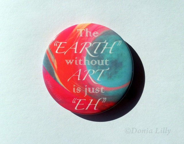 Refrigerator Magnet Godmother Godparent Quote Pink: Button Magnet 2.25 Set Of 3 Magnets Art Quote: Play On