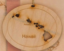 Hawaii Ornament - Hawaii State Ornaments - Hawaii Gift - Hawaii Christmas Ornament - Hawaii Decor - Hawaii Gifts - Personalized Free
