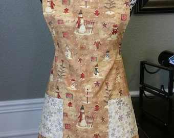 Holiday Snowman Apron