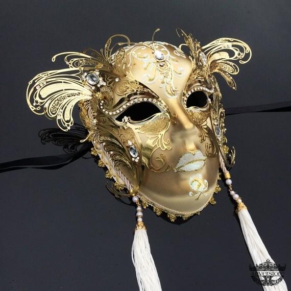 Masquerade Masks Decorations Ideas: Items Similar To Masquerade Mask, Full Face Mask, Wall