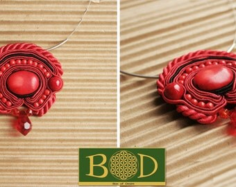 Feria de flamenco soutache necklace