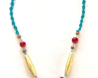 Fun tropical hemp necklace