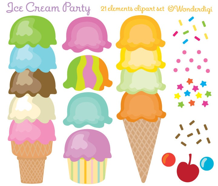 clip art ice cream party - photo #2
