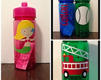 Personalized Kids Sports Water Bottle with Design