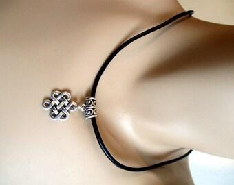 Celtic, Scottish, Irish Knot ,Outlander ,Celtic Knot Design Charm Necklace, Choker by Rebeltude