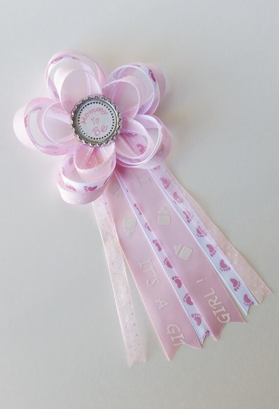 it 39 s a girl mommy to be corsage baby shower pin daddy to be aunt to