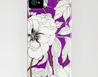 Purple Peonies // Phone Case // iPhone  5c // iPhone 5/5s // iPhone 5c // iPhone 6/6s // Samsung Galaxy S7 // iPhone 7