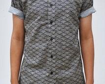 New Wave Short Sleeve Button-Up Shirt
