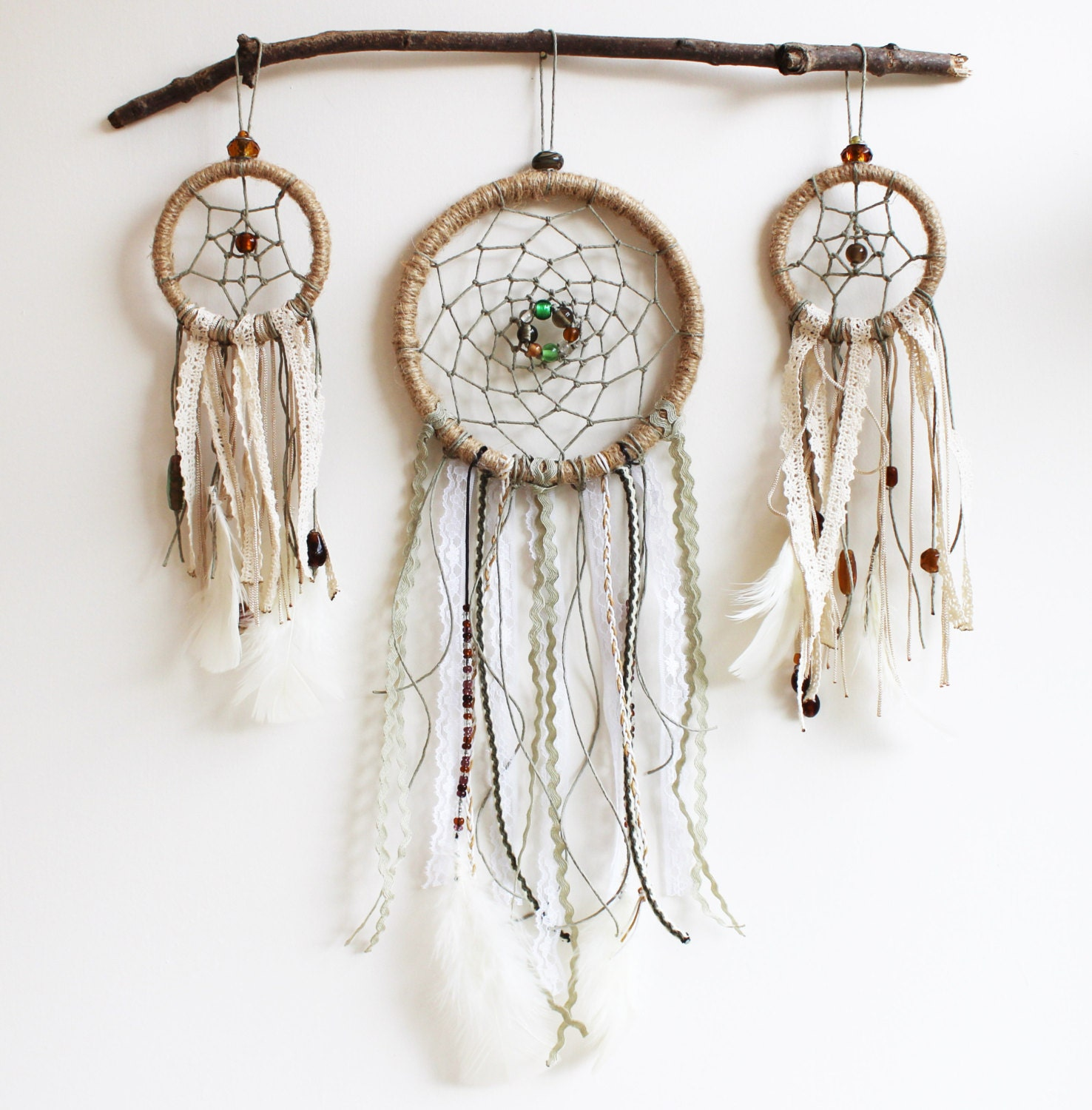 Dream catcher wall hanging completed by makingthingshappen for Hanging wall decor