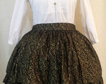 Gold Baroque Lolita Skirt
