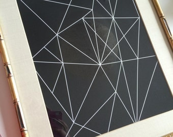 "Black and White Wall Art,  Geometric Art, Modern Abstract Art, Modern Art Black and White Abstract Art Instant Download Print - 8""x10"" Print"