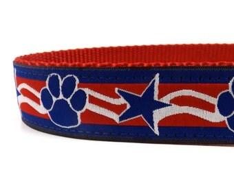 Patriotic dog collar / USA Dog Collar / Red, White and Blue Collar