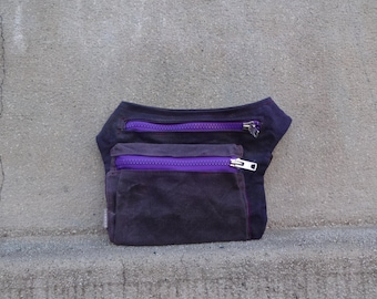 Waxed Canvas Hip Bag Dull Violet