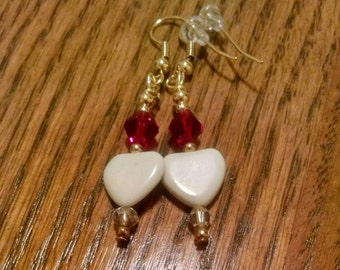 Heart Glass Bead Earrings Perfect for Valentine's Day Item No. 37